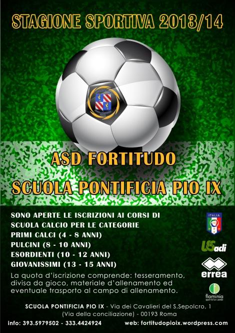 Volantino scuola Calcio 2013