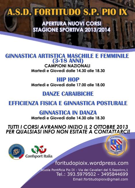 Volantino Attività Pio IX 2013