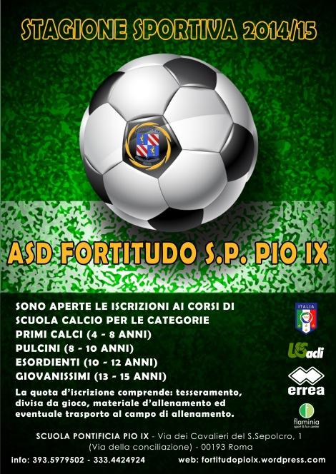 fortitudo pio ix calcio volantino 1415
